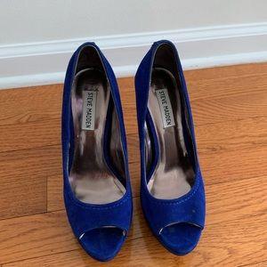 Steve Madden Blue Heels Size:7;5.